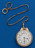 Timepieces:Pocket (post 1900), Hamilton (Swiss) 17 Jewel With Chain. ...