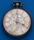 Timepieces:Pocket (pre 1900) , Swiss 46 mm, Sterling Lever Fusee. ...