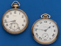 Timepieces:Pocket (post 1900), Two - Hampden 12 Size Pocket Watches. ... (Total: 2 Items)