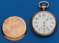 Timepieces:Pocket (post 1900), Hampden 21 Jewel, Grade 105, 16 Size Pocket Watch. ...