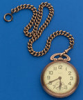 Timepieces:Pocket (post 1900), Elgin 21 Jewel, 16 Size B.W. Raymond With Chain. ...
