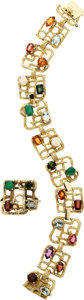 Estate Jewelry:Suites, Multi-Stone, Gold Jewelry Suite. ... (Total: 2 Pieces)