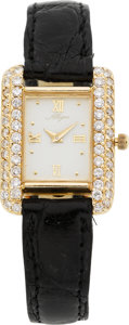 Estate Jewelry:Watches, Allegro Lady's Diamond, Gold Wristwatch. ...