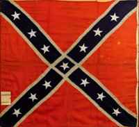 Army of Northern Virginia Pattern Confederate Battle Flag, Captured at Macon Arsenal by the 17th Indiana Mounted Infantr...