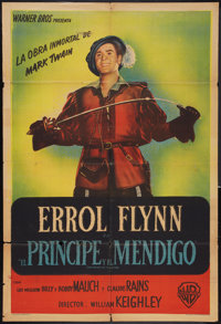 """The Prince and the Pauper (Warner Brothers, 1937). Argentinean Poster (29"""" X 43""""). Adventure"""