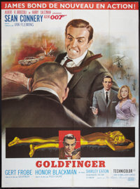 "Goldfinger Lot (United Artists, R-1970s). French Grandes (2) (46"" X 62""). James Bond. ... (Total: 2 Items)"