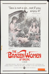 "Brazen Women of Balzac (Globe Pictures, 1971). One Sheet (27"" X 41"") and Photos (8) (8"" X 10""). Sexp..."