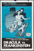 """Movie Posters:Horror, Dracula vs Frankenstein (Independent International Pictures, 1971). One Sheet (27"""" X 41""""). Horror.. ..."""