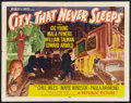 "Movie Posters:Crime, City That Never Sleeps (Republic, 1953). Half Sheet (22"" X 28"") Style A. Crime.. ..."