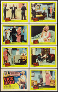 """Movie Posters:Crime, Vice Raid (United Artists, 1960). Lobby Card Set of 8 (11"""" X 14"""").Crime.. ... (Total: 8 Items)"""