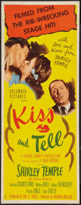 """Movie Posters:Comedy, Kiss and Tell (Columbia, 1945). Insert (14"""" X 36""""). Comedy.. ..."""