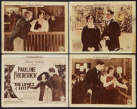 "The Loves of Letty (Goldwyn, 1919). Title Lobby Card and Lobby Cards (3) (11"" X 14""). Drama. ... (Total: 4 Ite..."