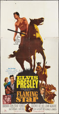 "Movie Posters:Elvis Presley, Flaming Star (20th Century Fox, 1960). Three Sheet (41"" X 81"").Elvis Presley.. ..."
