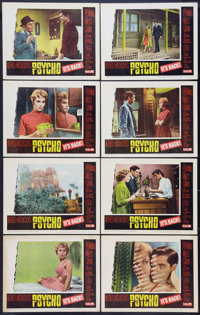 "Psycho (Paramount, R-1965). Lobby Card Set of 8 (11"" X 14""). Hitchcock. ... (Total: 8 Items)"