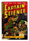 Golden Age (1938-1955):Science Fiction, Captain Science #4 (Youthful Magazines, 1951) Condition: VG....