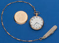 Timepieces:Pocket (post 1900), Burlington, 21 Jewel, 12 Size With Chain. ...