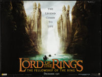 "The Lord of the Rings: The Fellowship of the Ring Lot (New Line, 2001). British Quads (2) (30"" X 40""). Fantasy..."