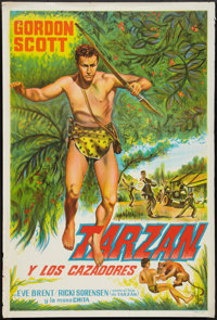 "Tarzan and the Trappers (Unknown, 1958). Argentinean Poster (29"" X 43""). Adventure"