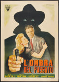 "Movie Posters:Film Noir, Murder, My Sweet (RKO, 1940s). Post War Italian 2 - Foglio (39"" X 55""). Film Noir.. ..."