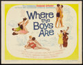 """Movie Posters:Comedy, Where The Boys Are Lot (MGM, 1961). Half Sheets (2) (22"""" X 28""""). Comedy.. ... (Total: 2 Items)"""