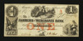 Obsoletes By State:Tennessee, Memphis, TN- Farmers and Merchants Bank $1 Aug. 1, 1854. ...