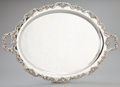 Silver Holloware, American:Trays, AN AMERICAN SILVER OVAL TWO-HANDLED TRAY . Poole Silver Co.,Taunton, Massachusetts, circa 1950. Marks: (lion rampant),ST...