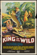 "Movie Posters:Serial, King of the Wild (Mascot, 1931). One Sheet (27"" X 41"") Chapter 3 -- ""The Avenging Horde."" Serial.. ..."