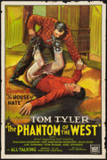 "Movie Posters:Serial, The Phantom of the West (Mascot, 1931). One Sheet (27"" X 41"") Chapter 8 -- ""The House of Hate."" Serial.. ..."