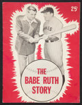 """Movie Posters:Sports, The Babe Ruth Story (Allied Artists, 1948). Program (Multiple Pages, 8.5"""" X 11""""). Sports.. ..."""