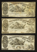 Obsoletes By State:Louisiana, Baton Rouge, LA- State of Louisiana $5 Oct. 10, 1862. Shreveport, LA- State of Louisiana $5 Mar. 10, 1863 Two Examples. ... (Total: 3 notes)