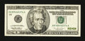 Error Notes:Ink Smears, Fr. 2084-H $20 1996 Federal Reserve Note. Very Fine.. ...