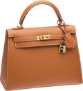 Luxury Accessories:Bags, Hermes 25cm Vache Naturelle Kelly Bag with Gold Hardware. ...