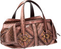 Luxury Accessories:Bags, Salvatore Ferragamo Collection Pink, Purple, and Lavender LargePython Bag, Retail $6000. ...