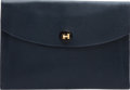 Luxury Accessories:Bags, Hermes Indigo Epsom Leather Rio Pochette Clutch. ...
