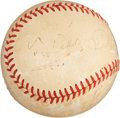 Baseball Collectibles:Balls, Ty Cobb, Tris Speaker and Charlie Grimm Multi Signed Baseball....