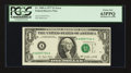 Error Notes:Shifted Third Printing, Fr. 1909-A $1 1977 Federal Reserve Note. PCGS Choice New 63PPQ.. ...