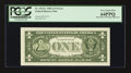 Error Notes:Miscellaneous Errors, Back Plate 129 Engraving Error Fr. 1912-L $1 1981A Federal Reserve Note. PCGS Very Choice New 64PPQ.. ...