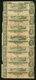 Confederate Notes:1864 Issues, T68 $10 1864.. ... (Total: 7 notes)