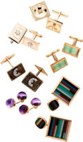 Estate Jewelry:Suites, Diamond, Amethyst, Multi-Stone, Cuff Links . ... (Total: 6 Items)
