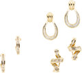 Estate Jewelry:Suites, Diamond, Gold Earrings. ... (Total: 3 Items)