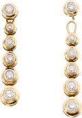 Estate Jewelry:Earrings, Diamond, Gold Detachable Earrings. ...