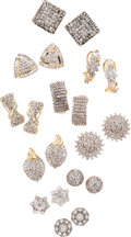 Estate Jewelry:Suites, Diamond, Gold Earrings. ... (Total: 10 Items)