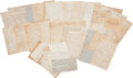 Autographs:Military Figures, Edward A. Wild and Walter Wild Archive of Letters Including Content Regarding Their Service as Officer's in Wild's African Bri...