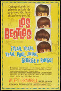 "Movie Posters:Rock and Roll, A Hard Day's Night (United Artists, 1964). Argentinean Poster (27""X 41""). Rock and Roll.. ..."