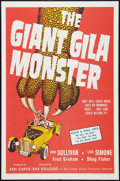 """Movie Posters:Horror, The Giant Gila Monster (McLendon Radio Pictures, 1959). One Sheet (27"""" X 41""""). Horror.. ..."""
