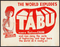 """Movie Posters:Documentary, Tabu (Sol-Rey, 1965). Half Sheet (22"""" X 28"""") and Lobby Cards (6) (11"""" X 14""""). Documentary.. ... (Total: 7 Items)"""