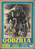 "Movie Posters:Science Fiction, Godzilla (Paramount, 1956). Italian Photobusta (19.5"" X 27.75"").Science Fiction.. ..."