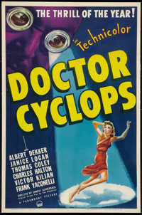 "Doctor Cyclops (Paramount, 1940). One Sheet (27"" X 41""). Horror"