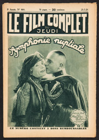 """Le Film Complet Lot (1929). French Magazines (2) (Multiple Pages, 7"""" X 10.25""""). Miscellaneous. ... (Total: 2 I..."""