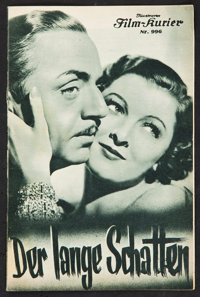 "The Thin Man (MGM, 1934). Film- Kurier Austrian Program (6"" X 9""). Mystery"
